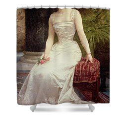 Portrait Of Madame Olry-roederer Shower Curtain by William-Adolphe Bouguereau