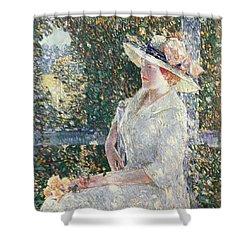 Portrait Of Miss Weir Shower Curtain by Childe Hassam