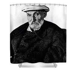 Portrait Of Renoir Shower Curtain by Photo Researchers