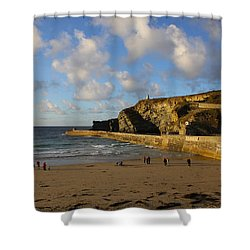 Portreath Beach Shower Curtain
