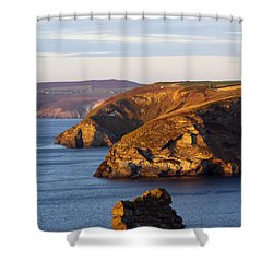 Portreath North Cliffs Shower Curtain