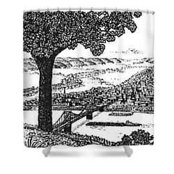 Portsmouth Ohio From A Kentucky Hill Shower Curtain