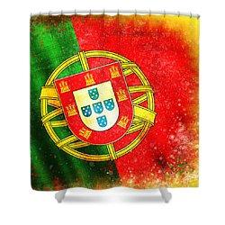 Portugal Flag  Shower Curtain by Setsiri Silapasuwanchai