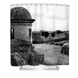 Portuguese Fortress Shower Curtain by Gaspar Avila