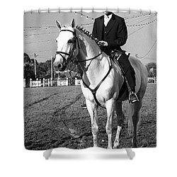 Portuguese Horse Rider Shower Curtain by Gaspar Avila