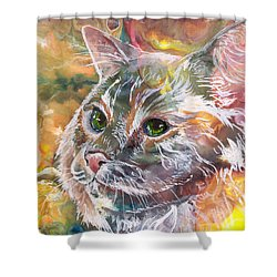 Posing Shower Curtain by Sherry Shipley