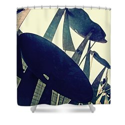 Post Alley Poppies Shower Curtain