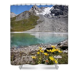 Postcard From Alpes Shower Curtain by Mircea Costina Photography