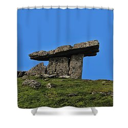 Shower Curtain featuring the photograph Poulnabrone Dolmen by David Gleeson