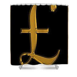 Pound Sterling In Gold Shower Curtain by Andrew Fare