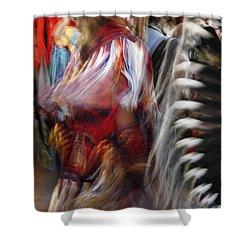 Pow Wow Dancer Shower Curtain by Vivian Christopher