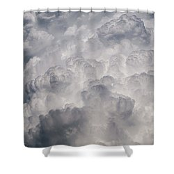 Powder Puff Shower Curtain by Colleen Coccia
