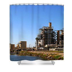 Power Plant Shower Curtain by Henrik Lehnerer