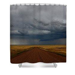 Prairie Storm In Canada Shower Curtain