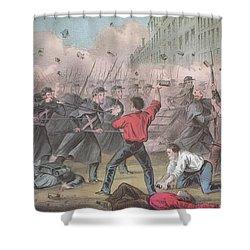 Pratt Street Riot, 1861 Shower Curtain by Photo Researchers