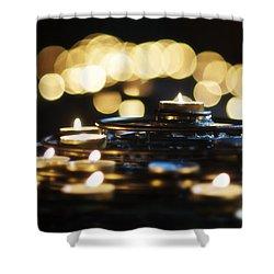 Prayer Candles Shower Curtain by Beth Riser