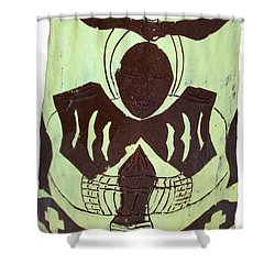 Prayer Shower Curtain by Gloria Ssali