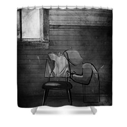 Prayers Of Love  Shower Curtain by Empty Wall
