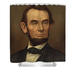 Shower Curtain featuring the photograph President Of The United States Of America - Abraham Lincoln  by International  Images