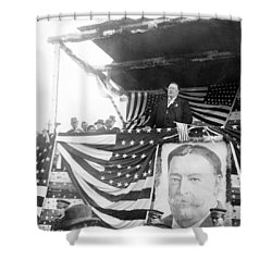 President Taft Giving A Speech In Augusta - Georgia C 1910 Shower Curtain by International  Images