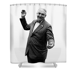 Shower Curtain featuring the photograph President Warren G Harding - C 1920 by International  Images