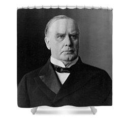 President William Mckinley Shower Curtain by International  Images
