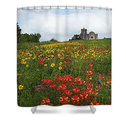 Presidio La Bahia 1 Shower Curtain by Susan Rovira
