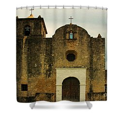 Shower Curtain featuring the photograph Presidio La Bahia by Vivian Christopher