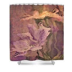 Pretty Bouquet - A04t4b Shower Curtain by Variance Collections