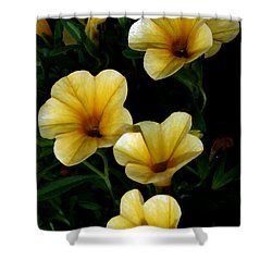 Pretty In Yellow Shower Curtain by Karen Harrison