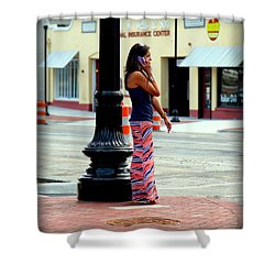 Pretty Woman Shower Curtain by Karen Wiles