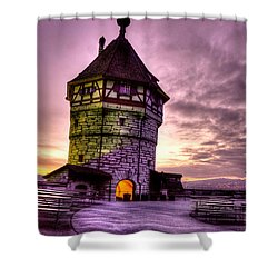 Princes Tower Shower Curtain by Syed Aqueel