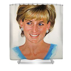 Princess Diana Shower Curtain by Cliff Spohn