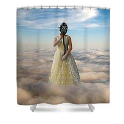 Princess In Gas Mask 3 Shower Curtain by Jill Battaglia