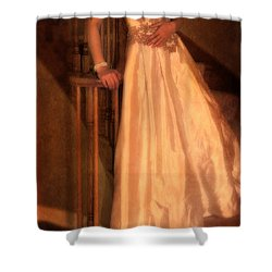 Princess On Stairway Shower Curtain by Jill Battaglia