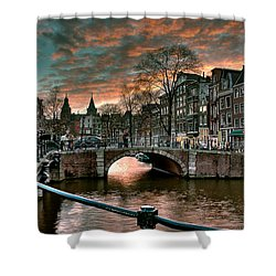 Prinsengracht And Reguliersgracht. Amsterdam Shower Curtain