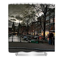 Prinsengracht And Spiegelgracht. Amsterdam Shower Curtain