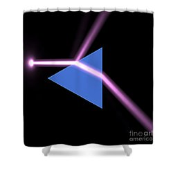 Shower Curtain featuring the digital art Prism 3 by Russell Kightley
