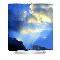 Prismed Shower Curtain by Maria Urso