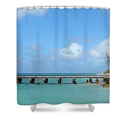 Private Dock Shower Curtain