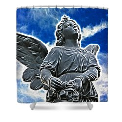 Protector Shower Curtain by Mariola Bitner