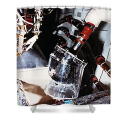 Prototype Airwater Filter On Test Shower Curtain by NASA / Science Source