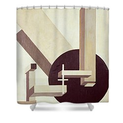 Proun 10 Shower Curtain by El Lissitzky