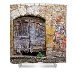 Shower Curtain featuring the photograph Provence Window And Wall Painting by Dave Mills