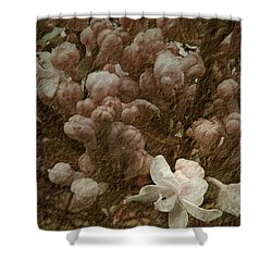 Pruning Lilacs Shower Curtain by Lianne Schneider