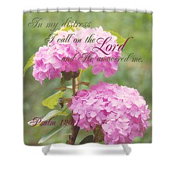 Psalm Verse Shower Curtain by Lena Auxier