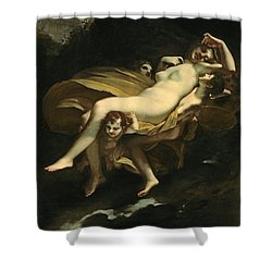 Psyche Transported To Heaven Shower Curtain by Pierre-Paul Prud hon