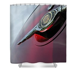 Pt Cruiser Emblem Shower Curtain by Thomas Woolworth
