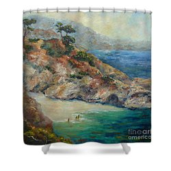 Pt Lobos View Shower Curtain by Carolyn Jarvis
