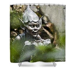 Puck In The Garden Shower Curtain by Heiko Koehrer-Wagner